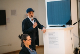 Photofilm: Sampling the Archives Conference (photo: Varga Benedek)
