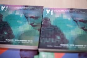 This year's beautiful catalogue, designed by Ágnes Jekli / Photo: Balázs Ivándi-Szabó
