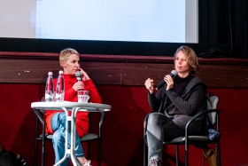 Discussion after By the Name of Tania with producer Hanne Phlypo / Photo: Balázs Ivándi-Szabó