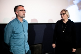 Q&A after the screening of Neighbors with director Tomislav Žaja / Photo: Zoltán Adrián