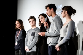 The Student Jury announces the Special Mention / Photo: Zoltán Adrián