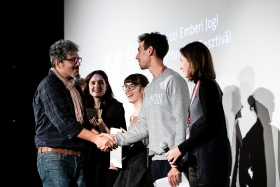 Philippe Bellaiche, co-director of Advocate, receives the prize / Photo: Zoltán Adrián
