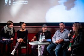 Discussion after the screening of Earth with the assistant director Evelyn Faye-Horak / Photo: Balázs Ivándi-Szabó