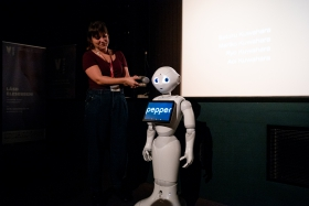 Surprise guest: Pepper the robot / Photo: Balázs Ivándi-Szabó