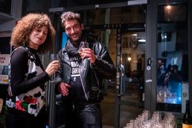 Verzió crew & guests celebrating after the last screening / Photo: Balázs Ivándi-Szabó